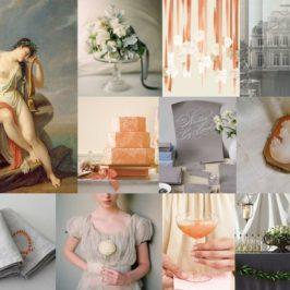 Inspiratie pentru o nunta de iarna: Gri + Portocaliu