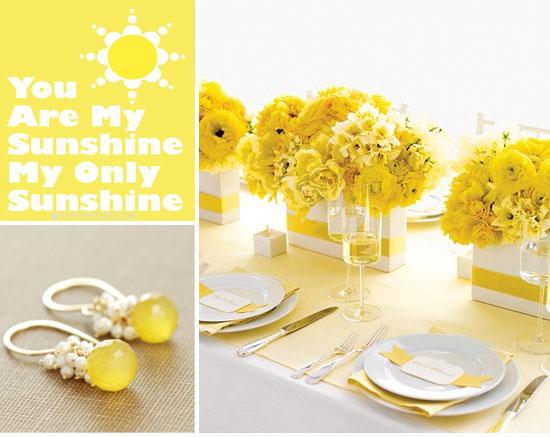 Inspiratie pentru o nunta tematica: culoarea galbena