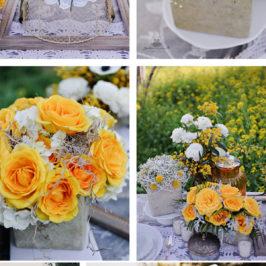 O nunta de poveste in stil rustic